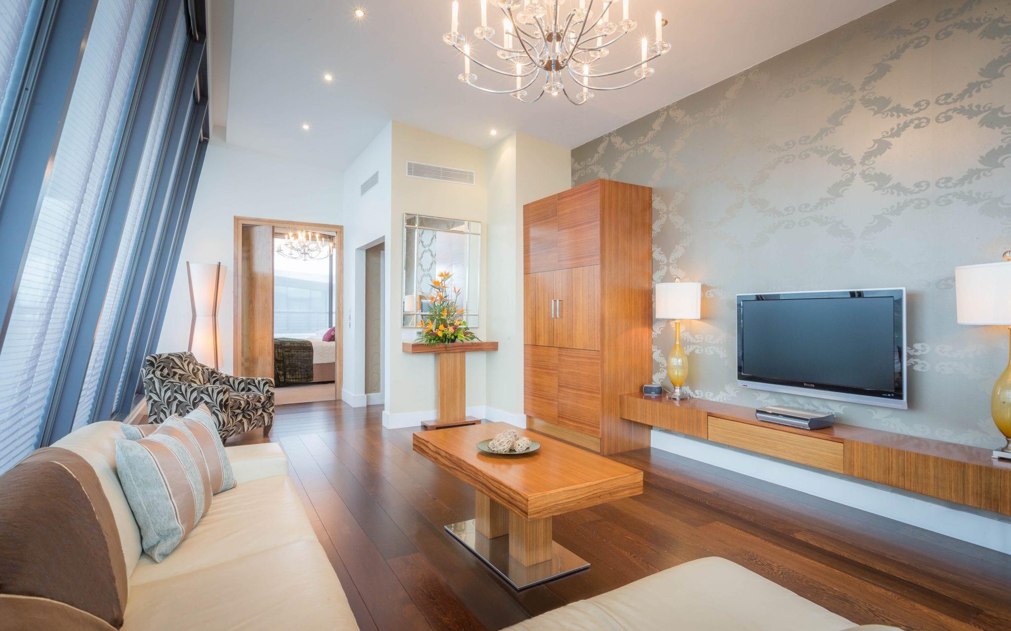 living room presidential suite hotel
