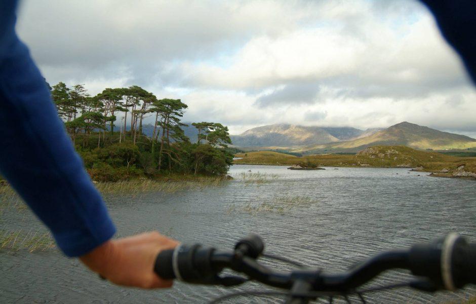 cycling around Derryclare Lough in Connemara