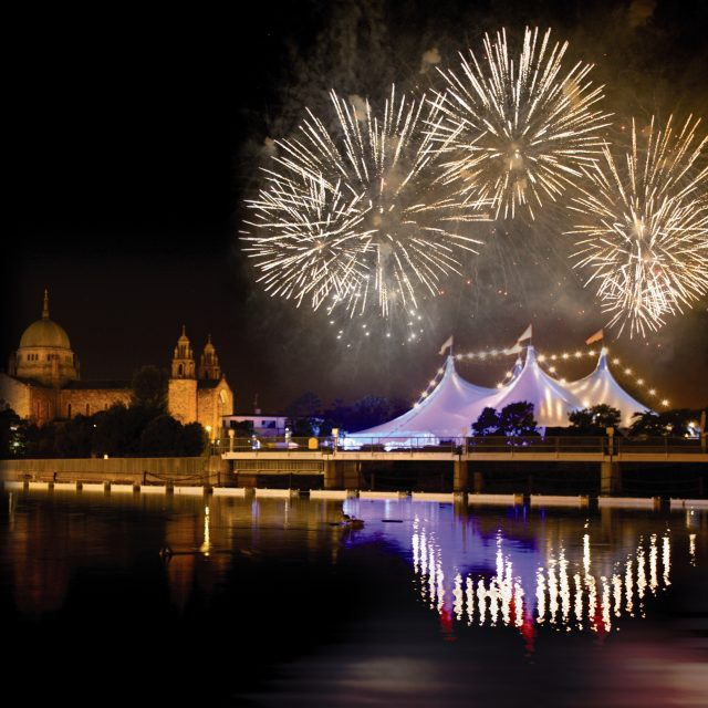 fireworks over The Galway Arts Festival